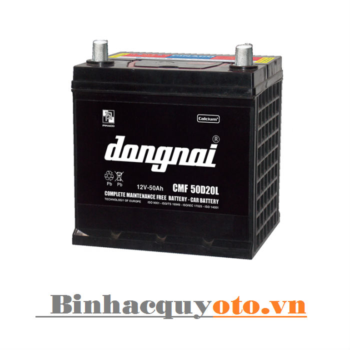 Ắc quy Đồng Nai CMF 50D20L (12V - 50Ah)