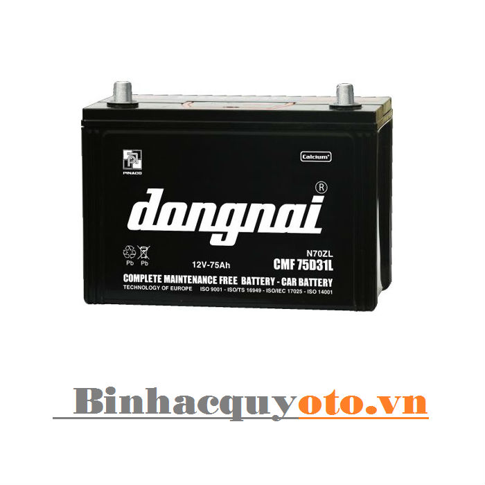 Ắc quy Đồng Nai CMF 75D31L (12V - 75Ah)
