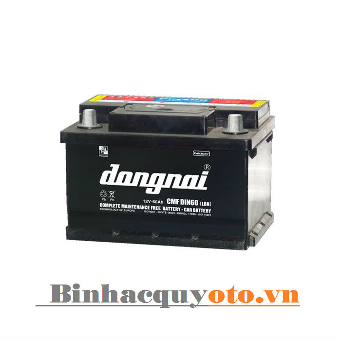 Ắc quy Đồng Nai CMF DIN60 (LBN) (12V - 60Ah)