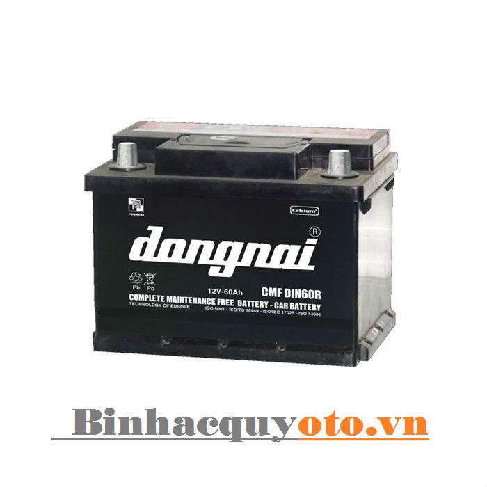 Ắc quy Đồng Nai CMF DIN60R (12V - 60Ah)