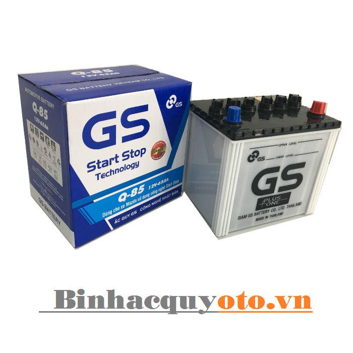 Ắc quy GS Q85 - Istop (12V - 65Ah)