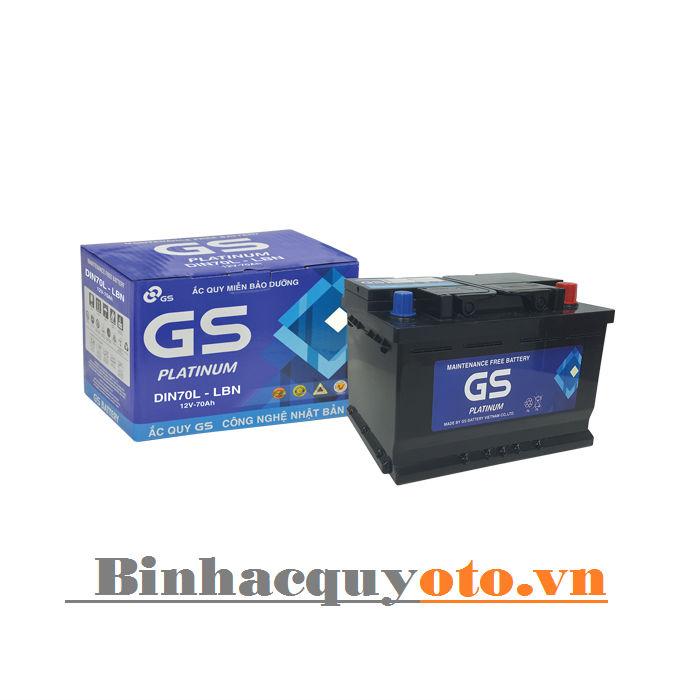 Ắc quy GS DIN70 LBN (12V – 70Ah)