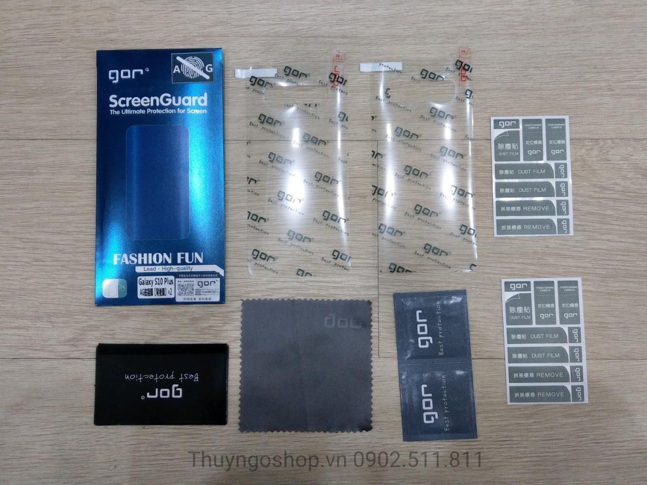 Samsung S10plus / S10 Bộ 2 Miếng Dán Trước/Sau Nhám Chống Vân Tay