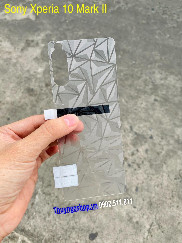Dán mặt lưng 3D Kim cương Sony Xperia 10 Mark II