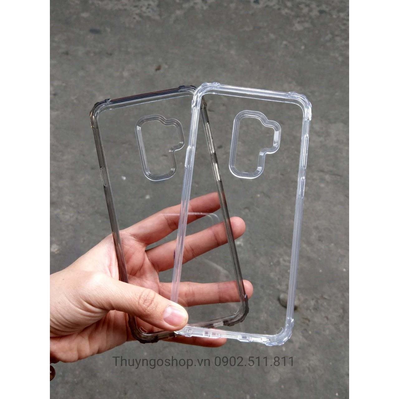 Ốp chống sốc lưng trong viền nhựa dẻo Samsung S9plus