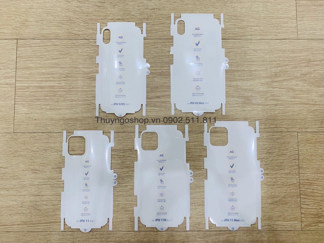 Dán nhám chống vân tay 100% iphone X/Xs , Xs Max / 11 / 11 Pro / 11 Pro Max