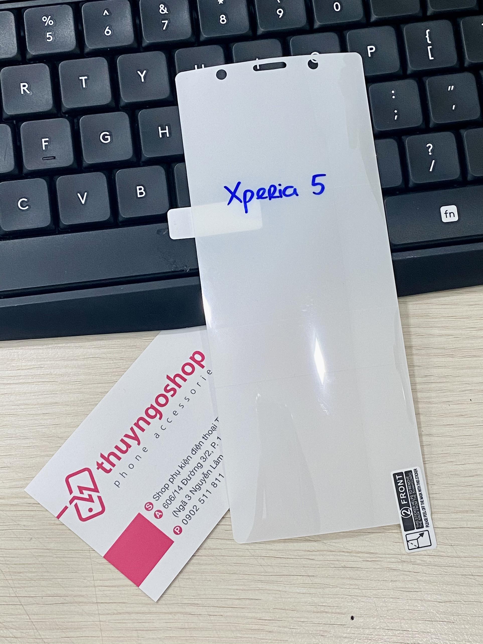 PPF dán màn hình trong suốt / nhám chống vân tay 100% Sony Xperia 5