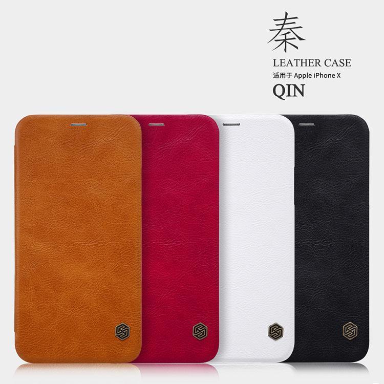 Bao da QIN chính hãng Nillkin cho Iphone X/Xs