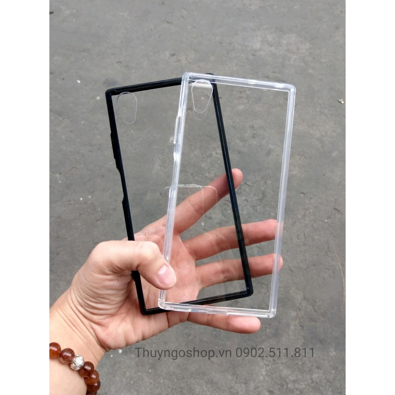 Ốp chống sốc lưng trong viền nhựa dẻo Sony XA1 Plus