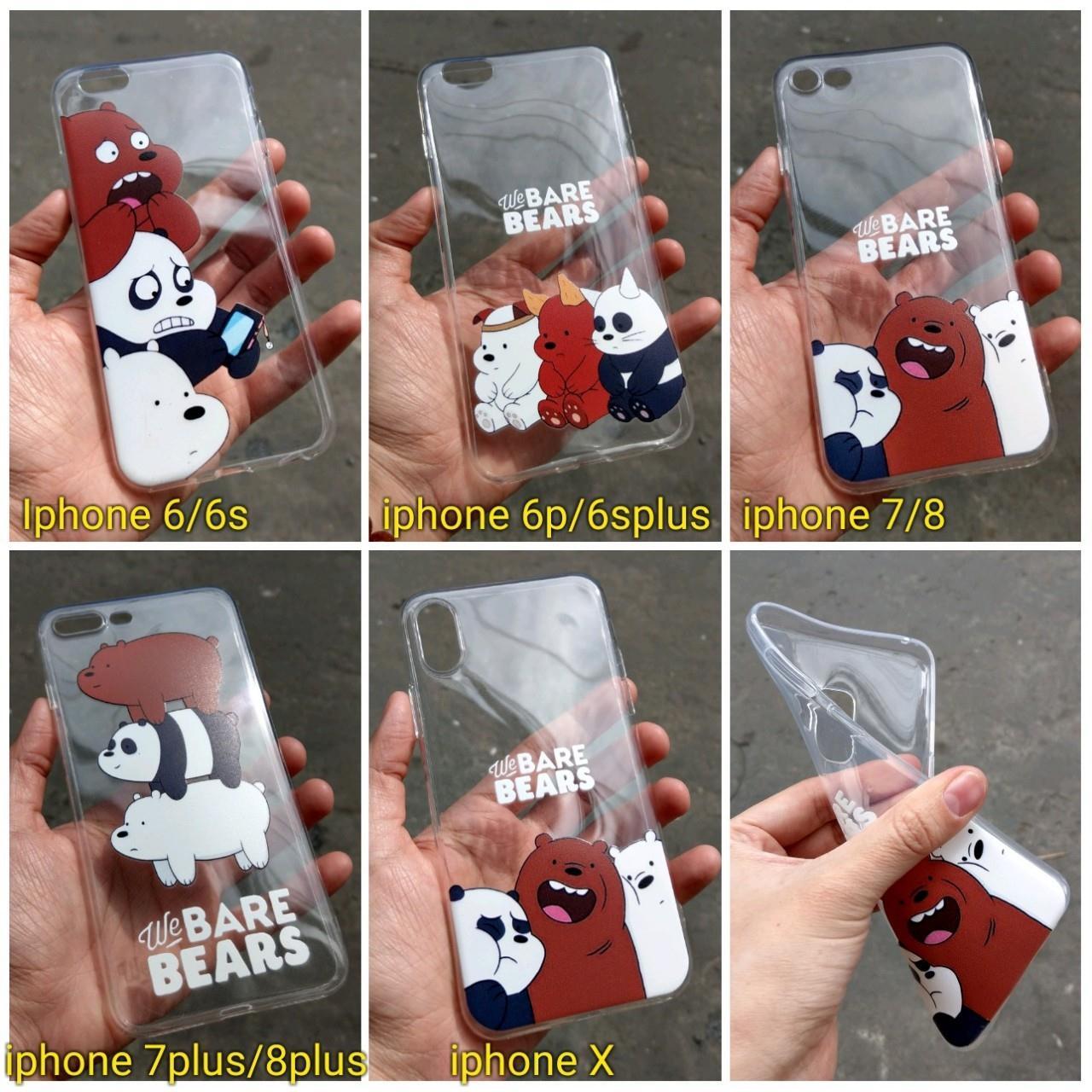Ốp lưng silicon in hình 3 chú gấu Iphone 6plus / 6splus