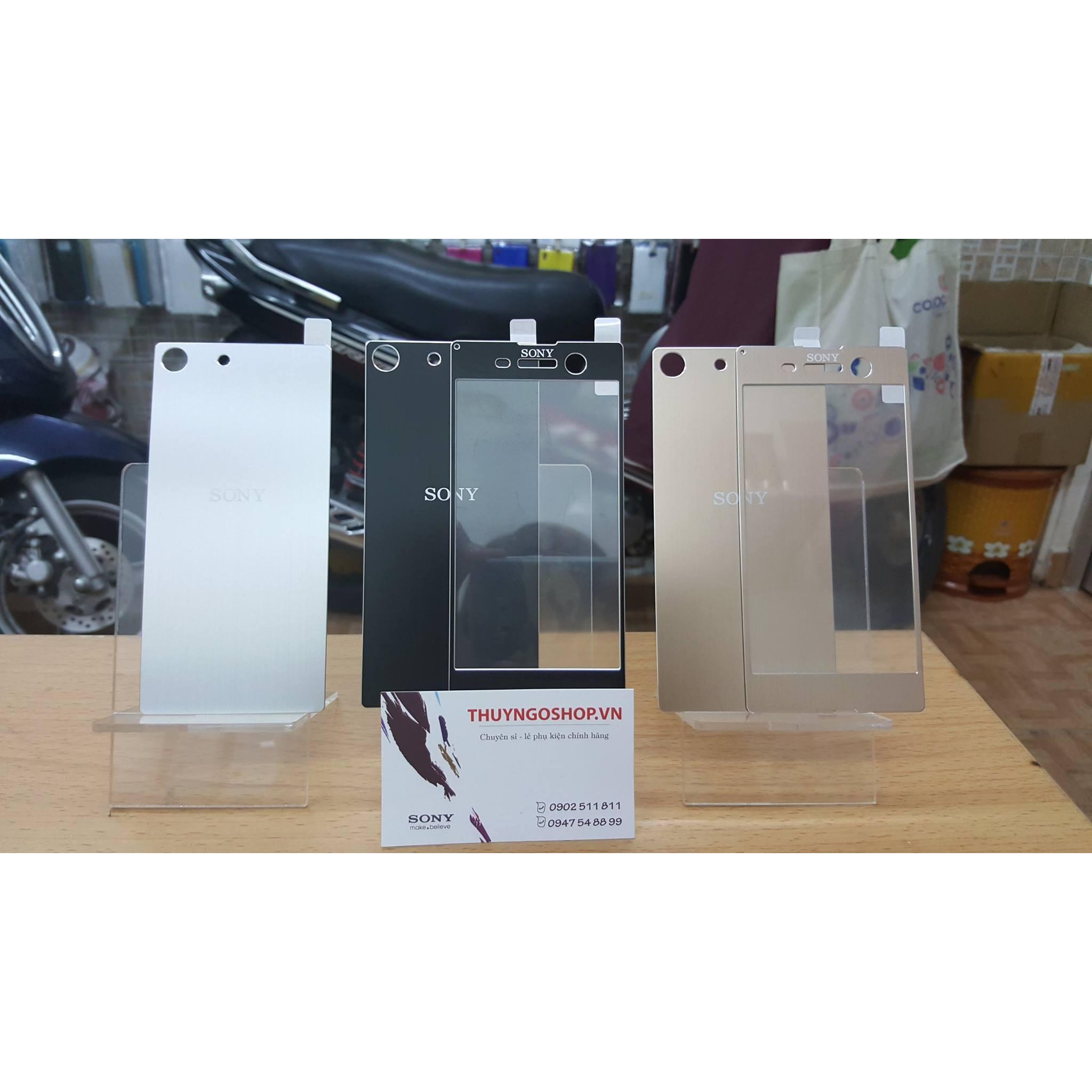 Kính cường lực mạ vân nhôm xước Sony Xperia M5