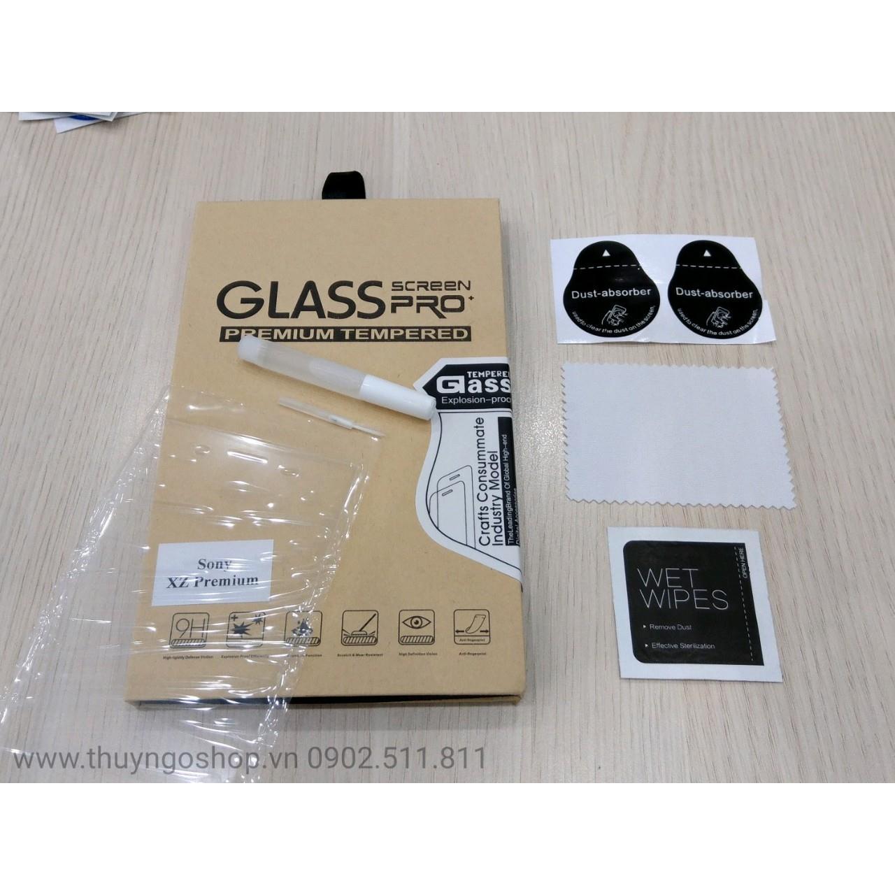 Kính cường lực keo nước UV Sony XZ Premium (full keo 100%)