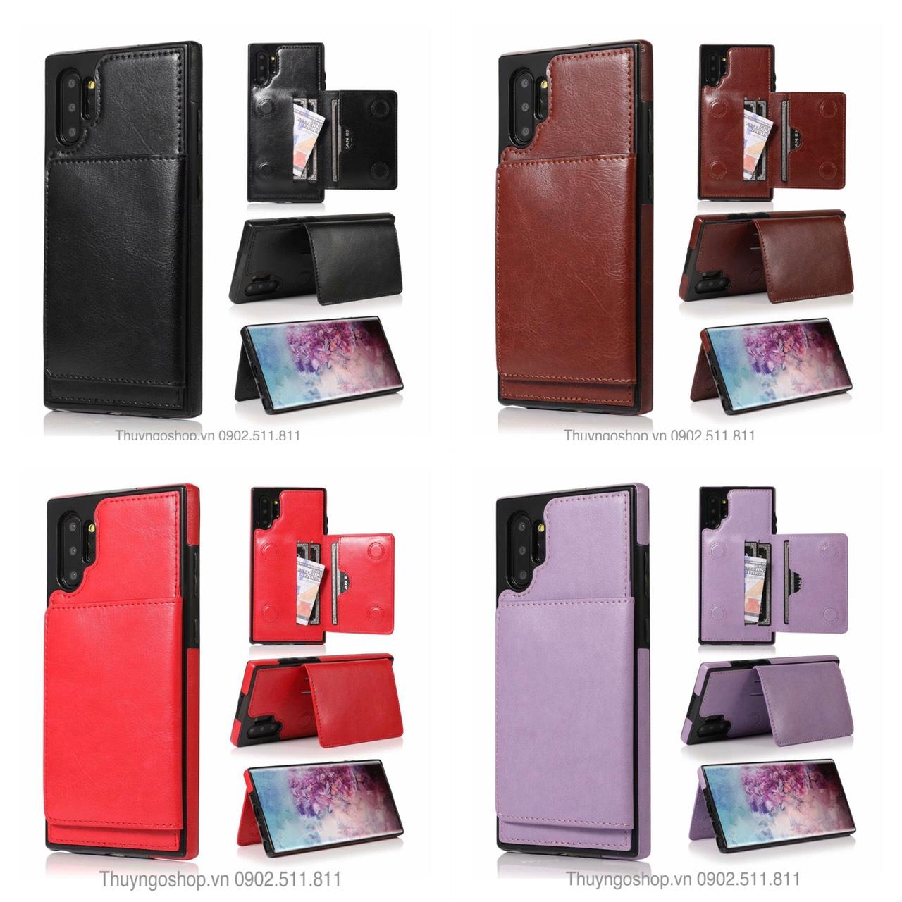 Ốp lưng kiêm ví đựng tiền, thẻ, card.. cho Samsung Note10 Plus