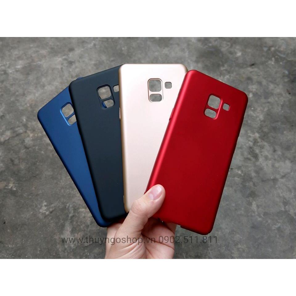 Ốp lưng màu phủ nhung Samsung A8 (2018