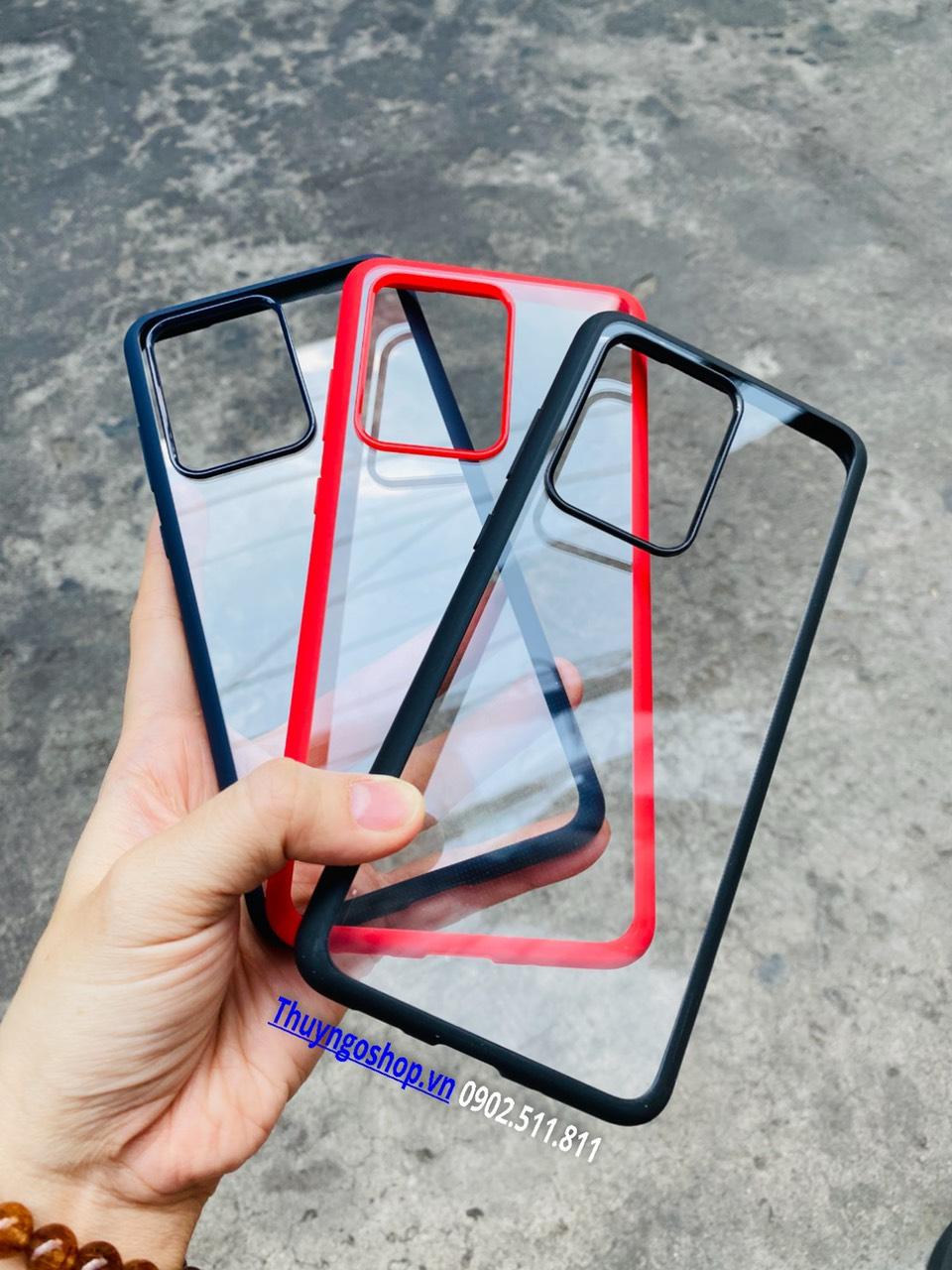 Samsung S20/S20 Plus/S20 Ultra - Ốp mỏng viền nhựa dẻo lưng trong cứng IPAKY