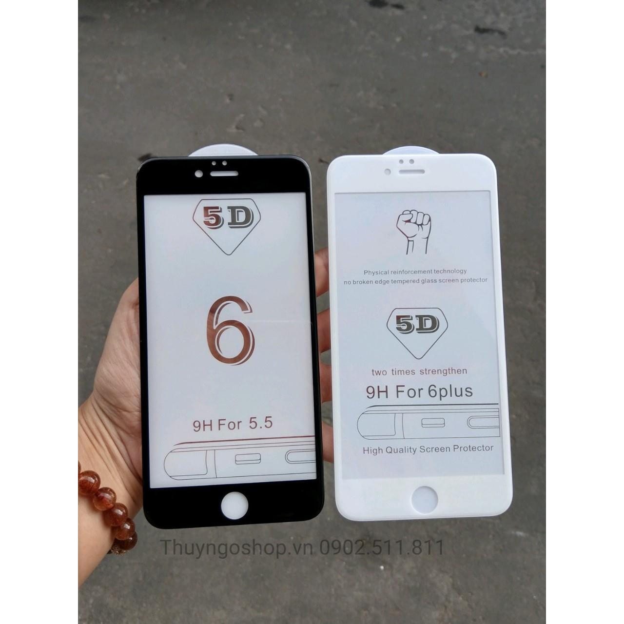 Kính Cường Lực full màn hình 5D Iphone 6 Plus / 6S Plus