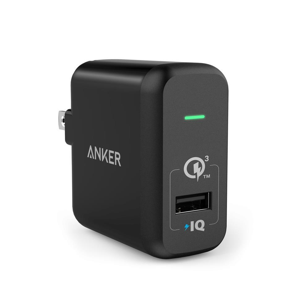 Sạc Anker 1 Cổng 18W [PowerPort+1, QC 3.0, with PowerIQ] - Đen