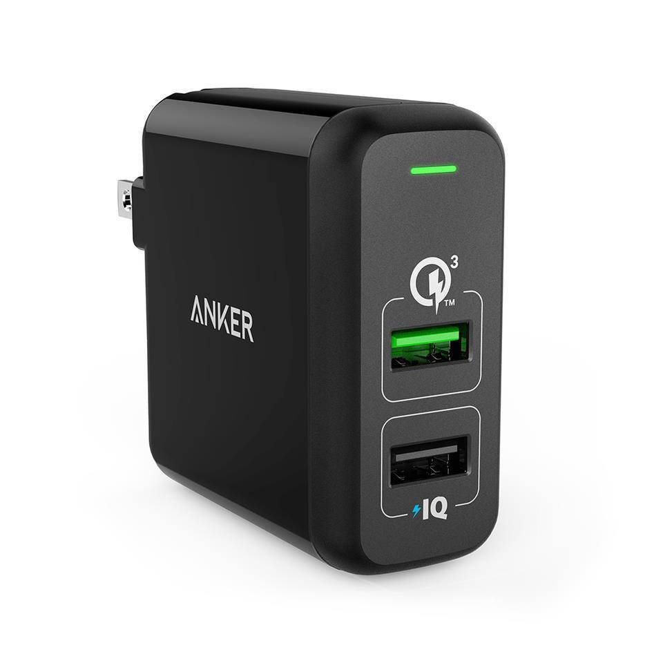 Sạc Anker 2 Cổng, 30W, Quick Charge 3.0 [Powerport 2, 30W, QC 3.0]
