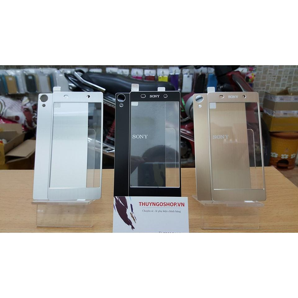 Kính cường lực mạ vân nhôm xước Sony Xperia Z2 ( mặt sau )