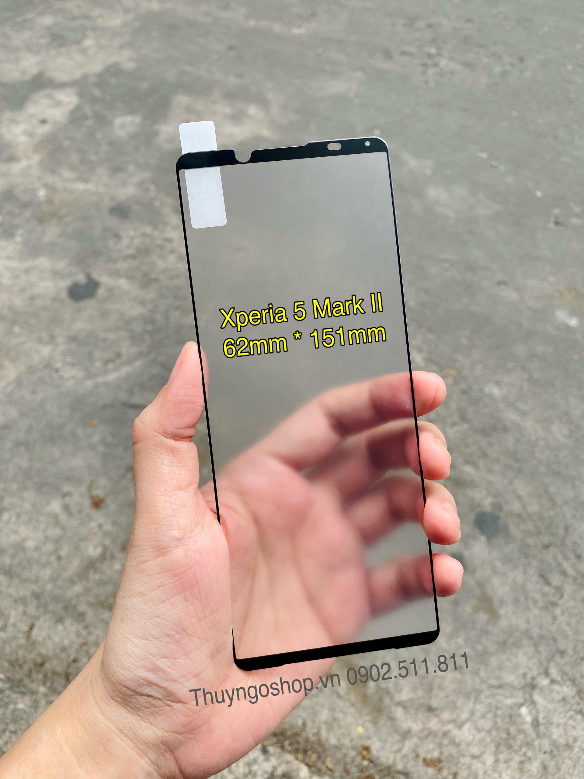 Kính cường lực chống bám vân tay Sony Xperia 5 Mark II full màn hình
