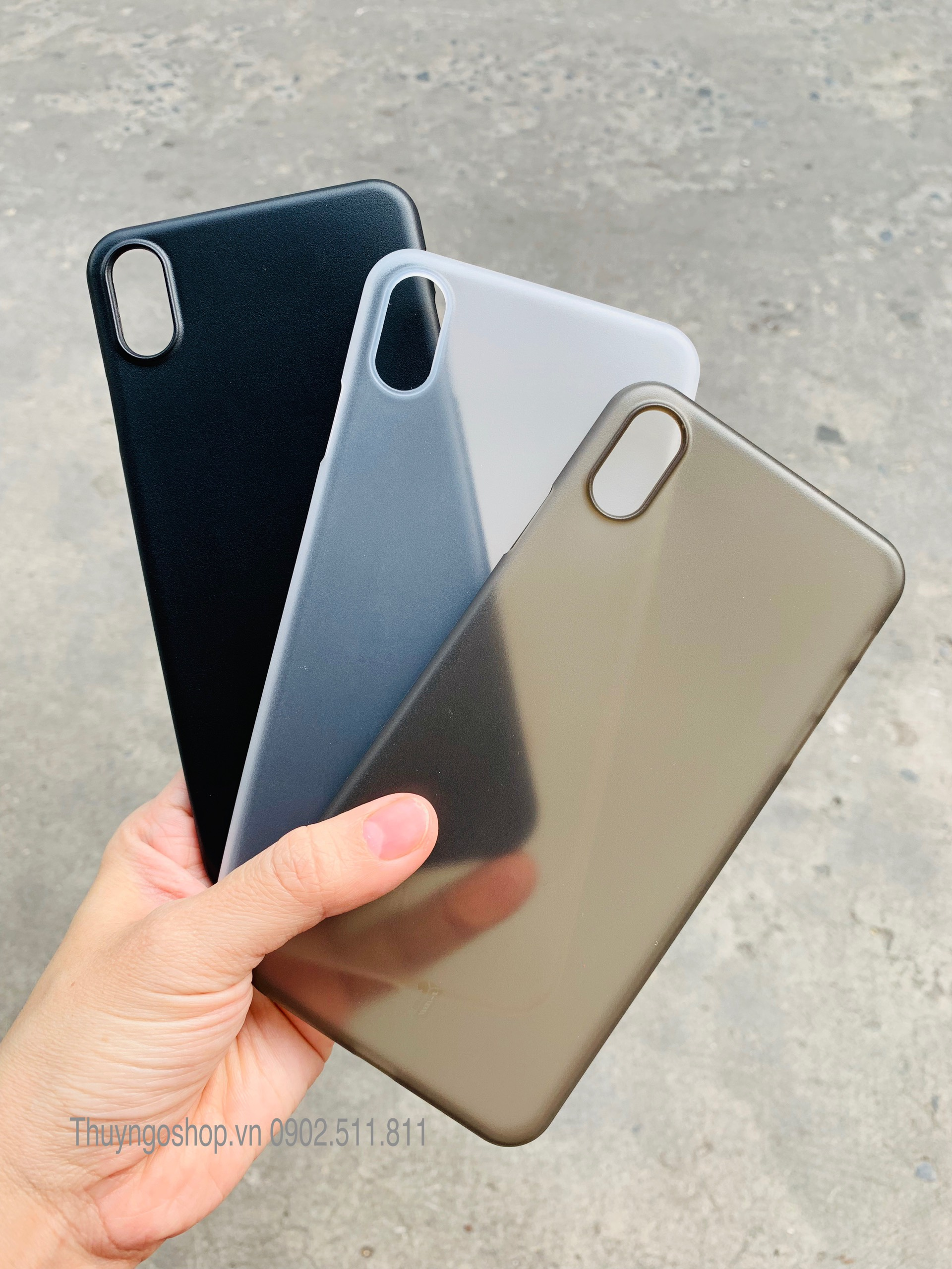 Iphone X / Xs / Xs Max Ốp lưng nhám siêu mỏng 0.18mm X-Level