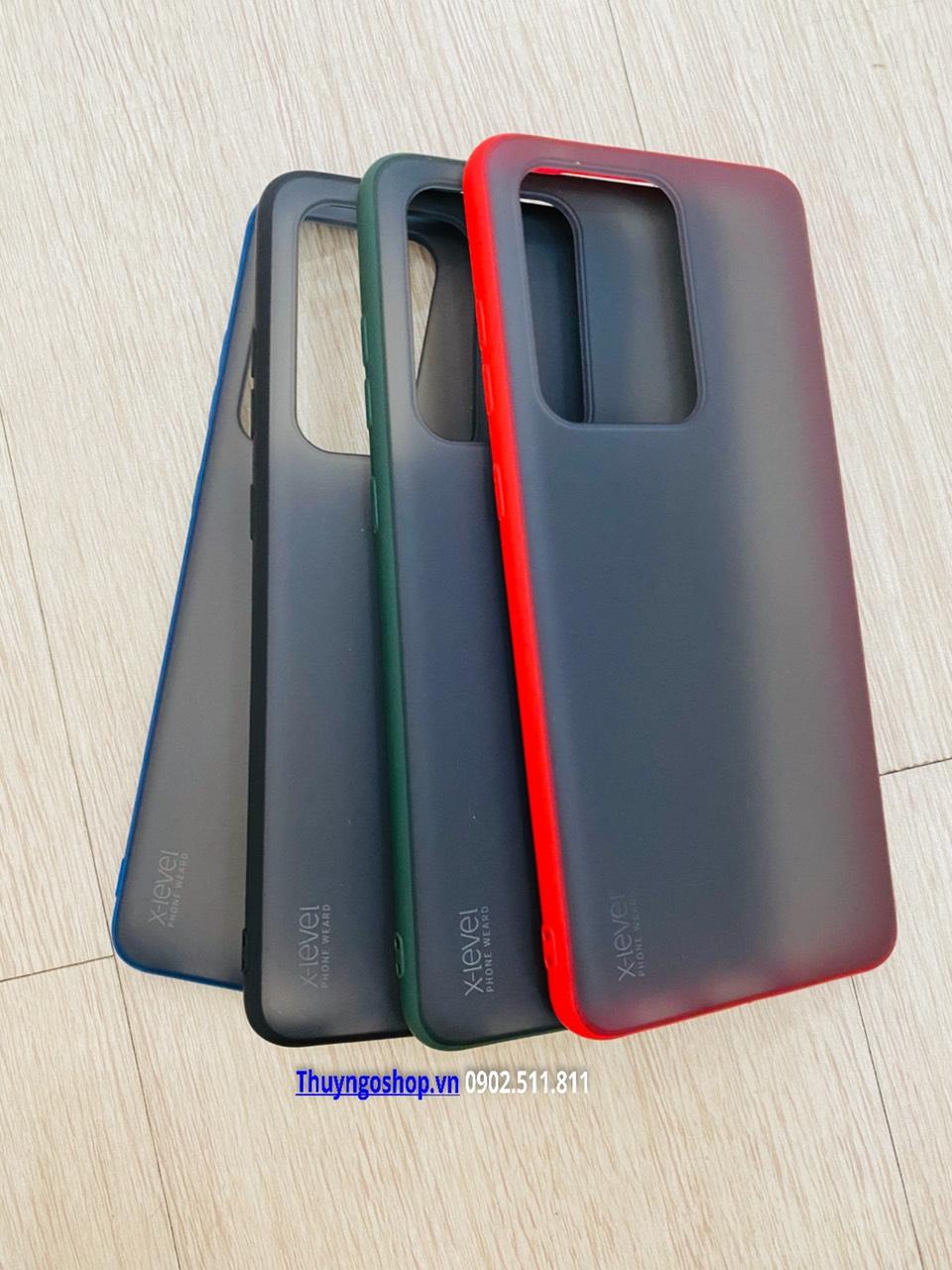 S20/S20 Plus/S20 Ultra - Ốp lưng nhám mỏng chống vân tay viền màu X-Level