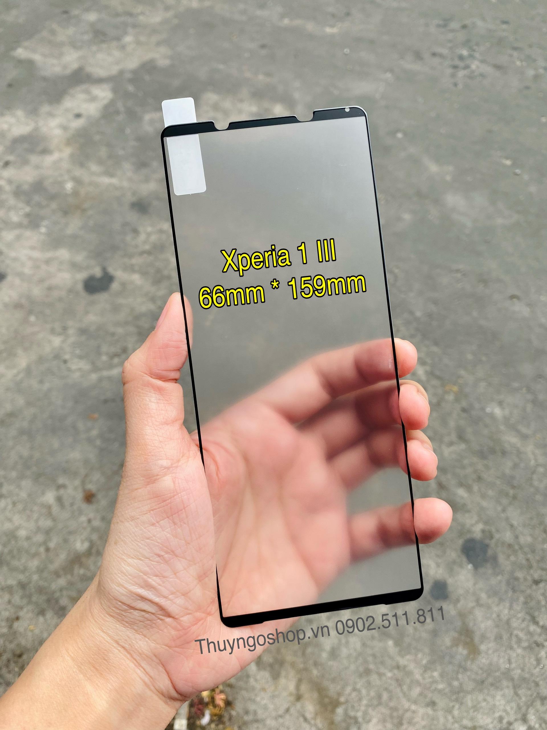 Kính cường lực chống bám vân tay Sony Xperia 1 III full màn hình