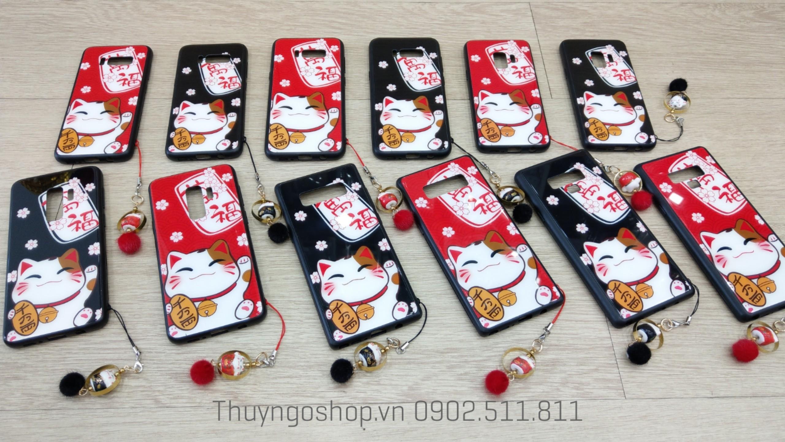 Ốp lưng mèo thần tài tài may mắn Samsung S8 , S8plus , S9 , S9plus , Note8 , Note9