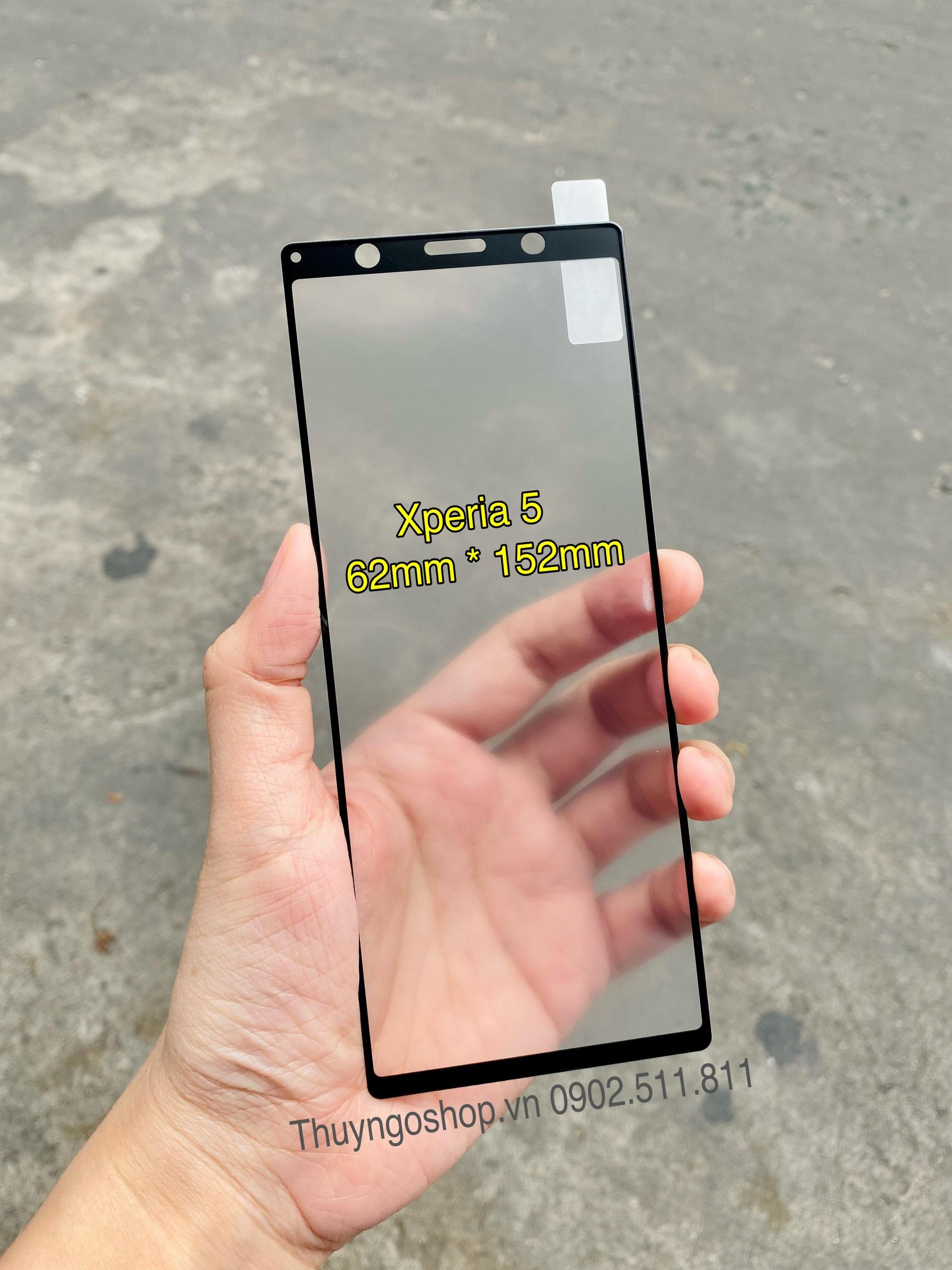 Kính cường lực chống bám vân tay Sony Xperia 5 full màn hình