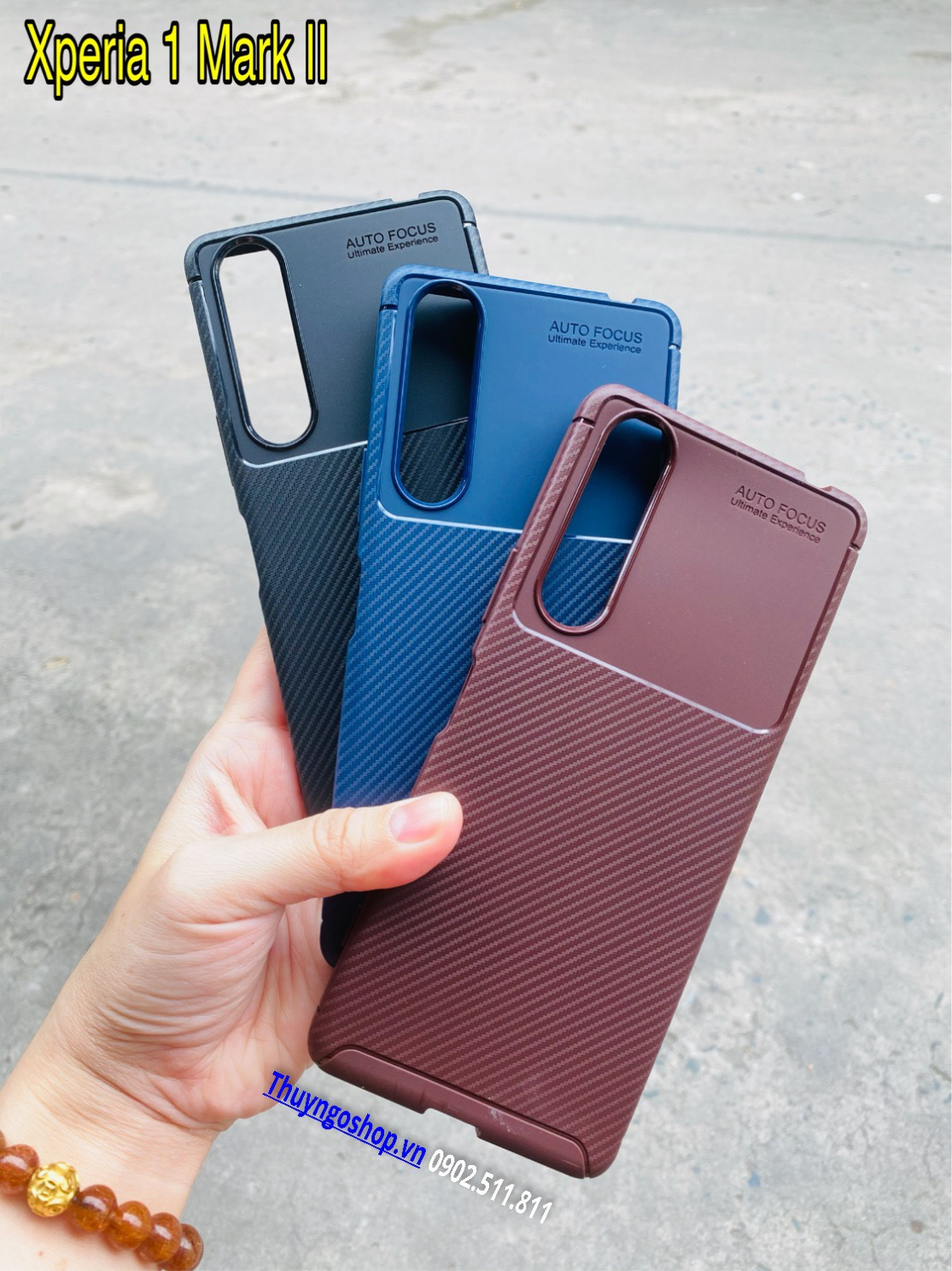 Ốp dẻo carbon chống sốc Sony Xperia 1 Mark II