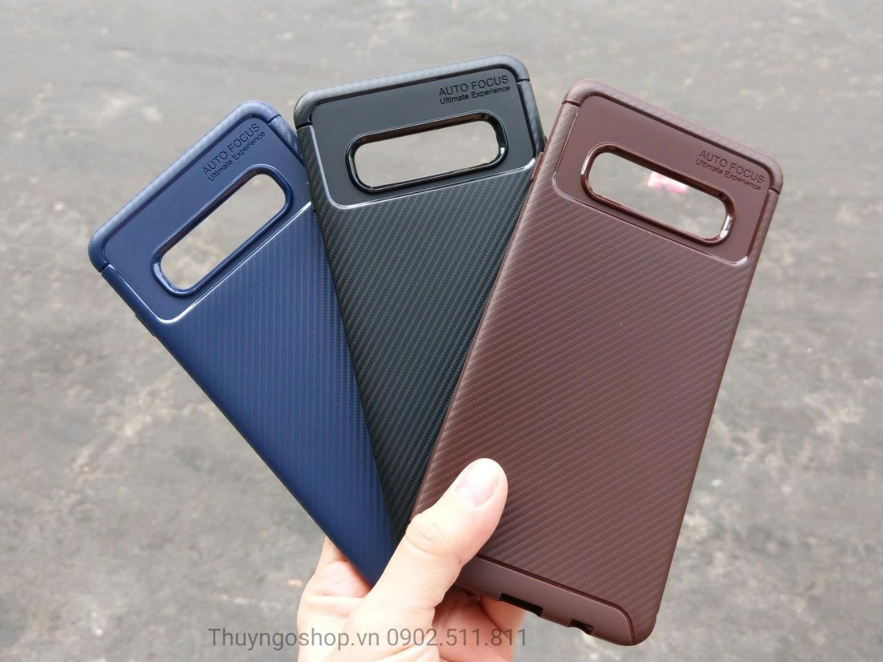 Samsung S10/S10plus/S10e Ốp Lưng Chống Sốc Carbon