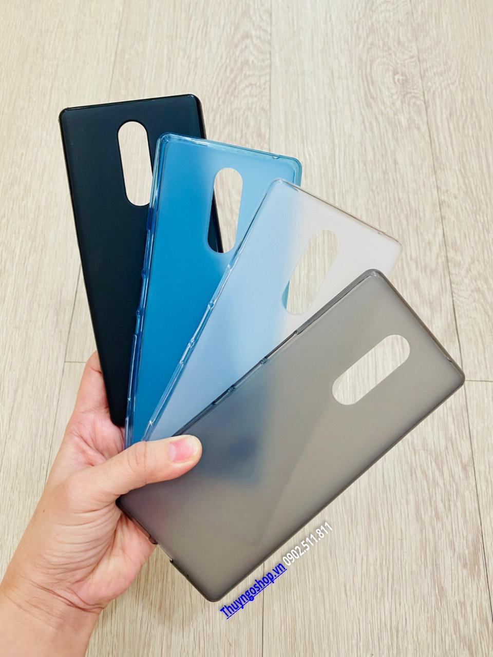 Ốp lưng dẻo nhám chống vân tay Sony Xperia 1