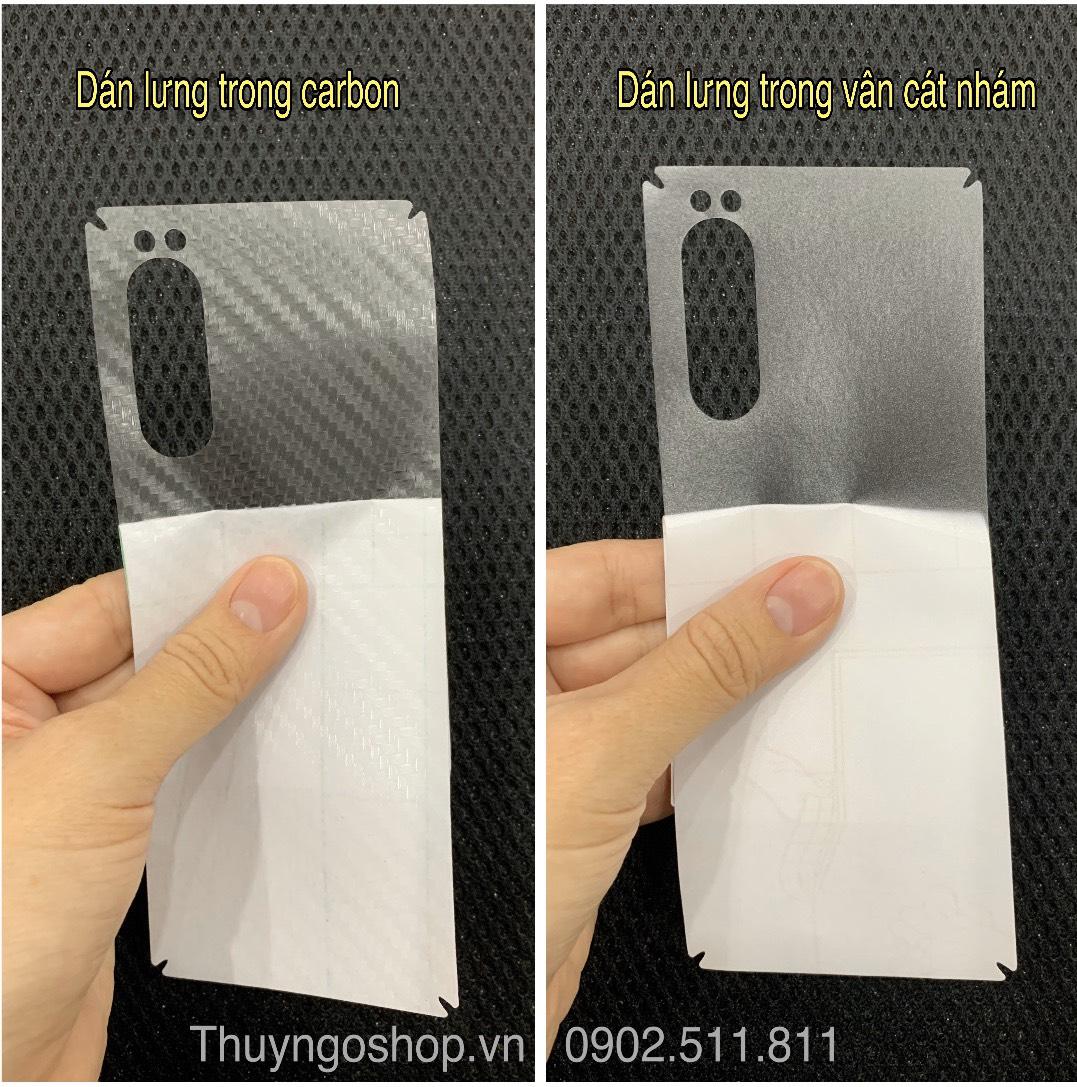 Dán lưng carbon - vân cát  Sony Xperia 5/Xperia 1/XZ3/XZ2/XZ2 Premium/XZ2 compact ...