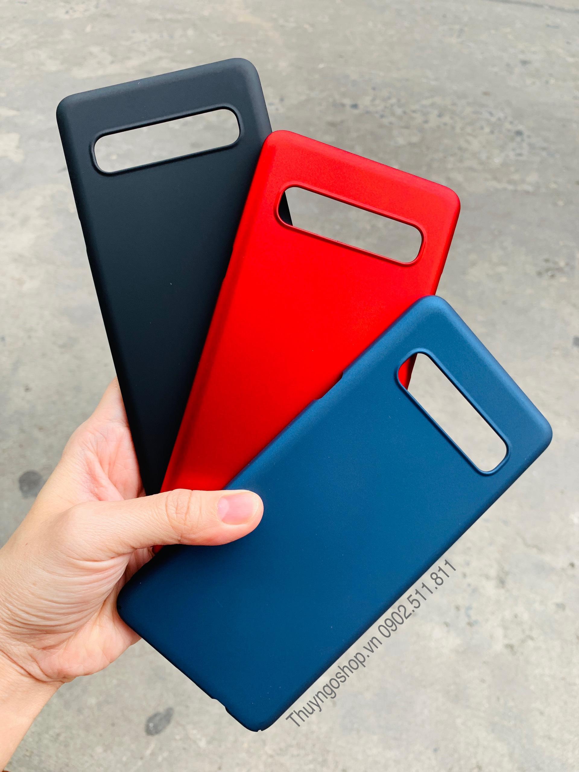 Samsung S10 5G - Ốp lưng nhựa phủ nhung