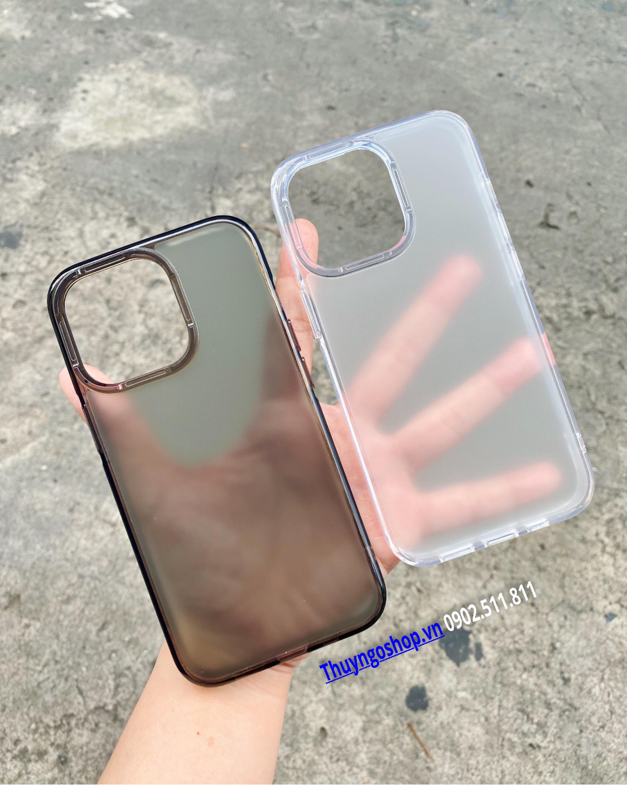 Ốp lưng mờ chống vân tay Iphone 13