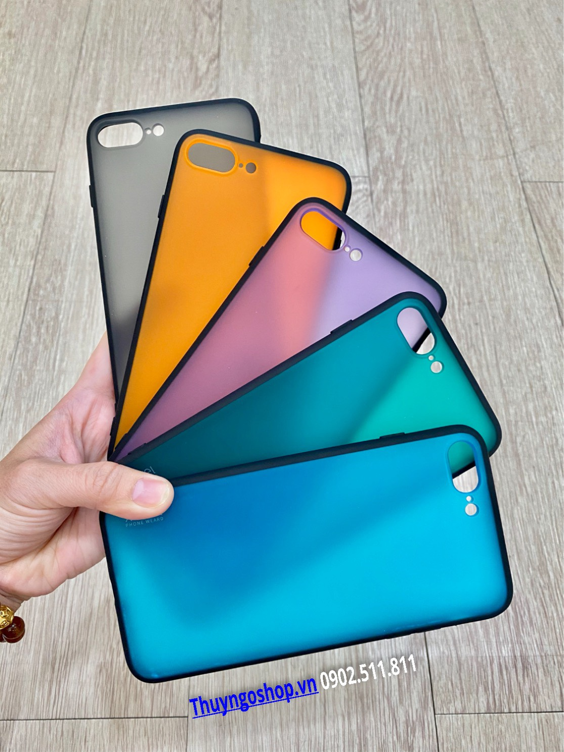 Iphone 11/11 Pro/11 pro max/X/XR/7plus/Xs Max/8plus - Ốp lưng màu nhám chống vân tay