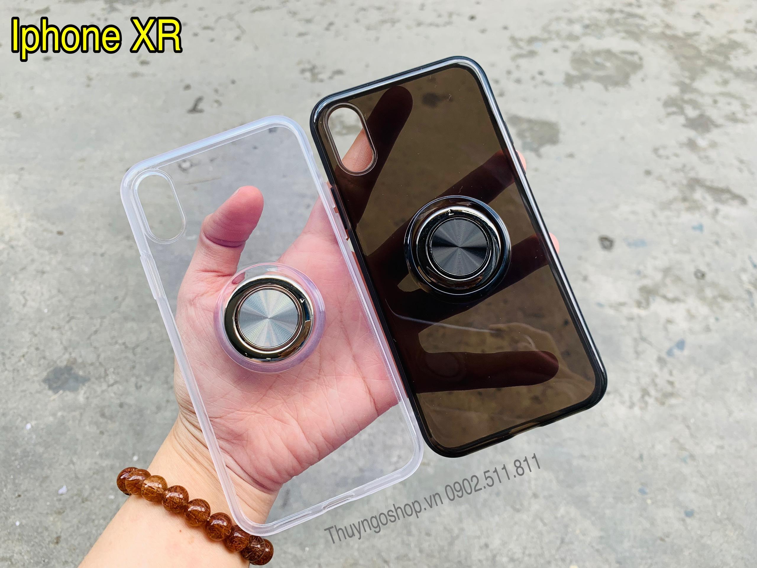 Ốp silicon kèm iring siêu mỏng xoay 360- Iphone X / Xs / Xs Max