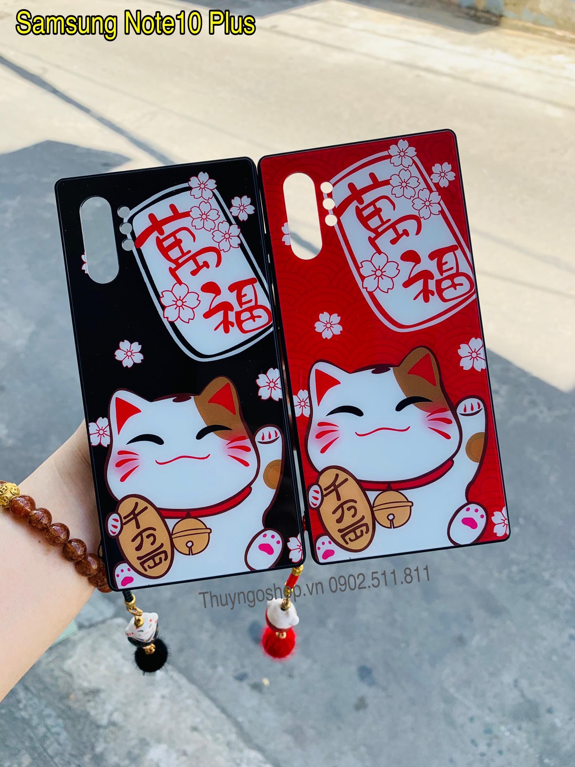 Samsung Note10, Note10 plus, S10, S10, S10 5G - Ốp lưng mèo thần tài tài may mắn
