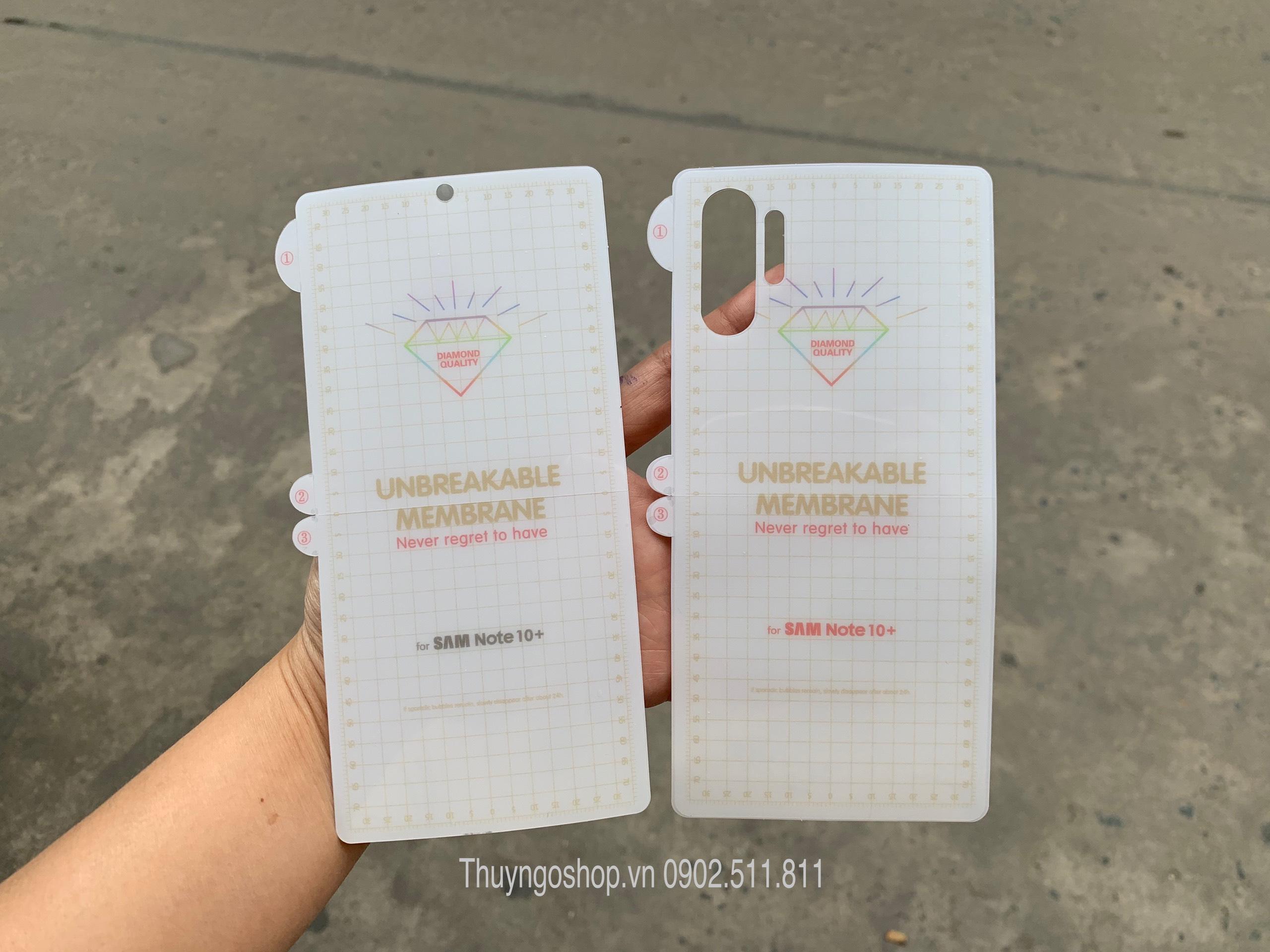 Samsung Note10/Note10 Plus / S10 5G / S10 plus / S10 - Dán dẻo full màn hình , 100% nhận mở khóa vân tay