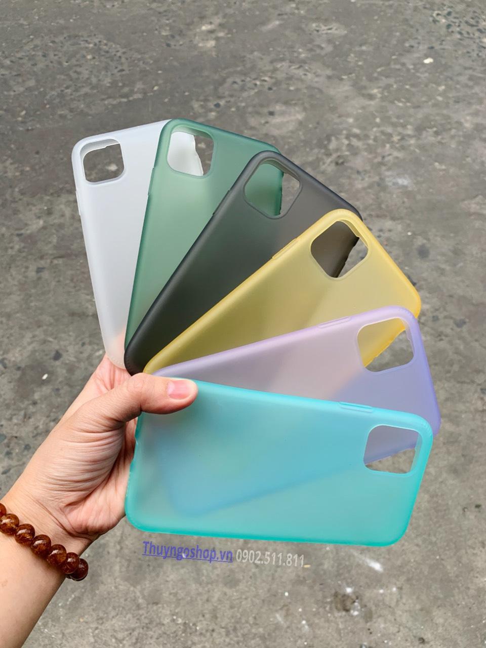 Ốp cao su non - siêu dẻo - siêu mềm màu trong nhám Iphone 11 - iphone 11 pro - iphone 11 pro max