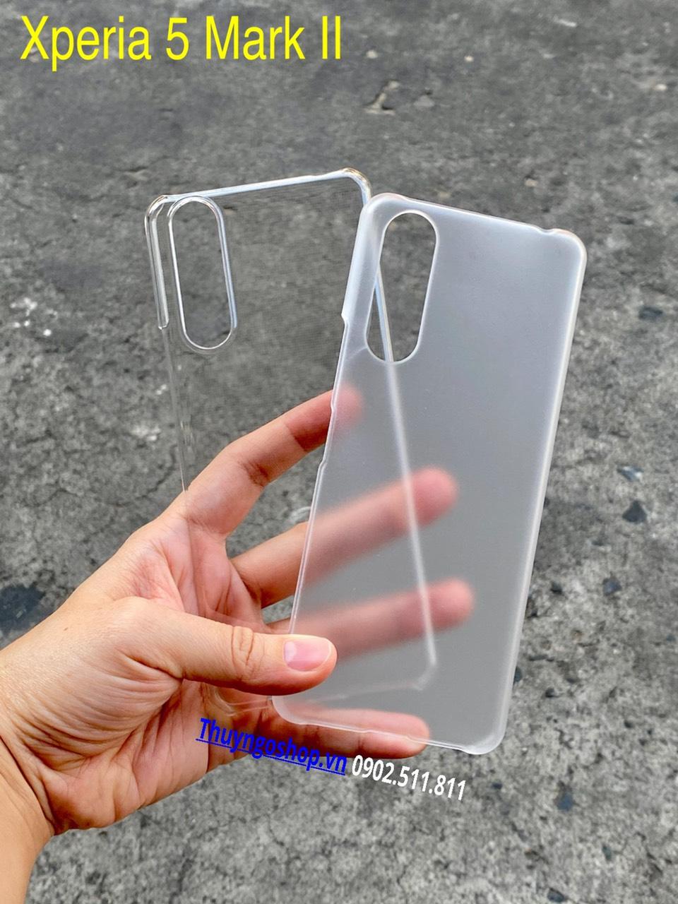 Sony Xperia 5 - Xperia 5 Mark II - Ốp cứng siêu trong suốt / Mờ chống vân tay