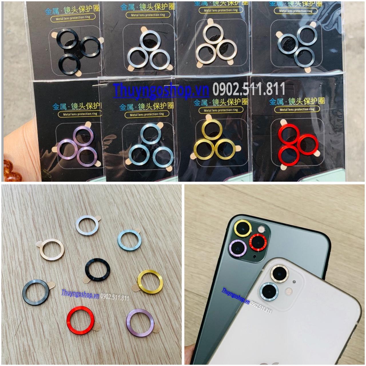Iphone 11/11pro/11pro max - Dán kim loại chống trầy viền camera
