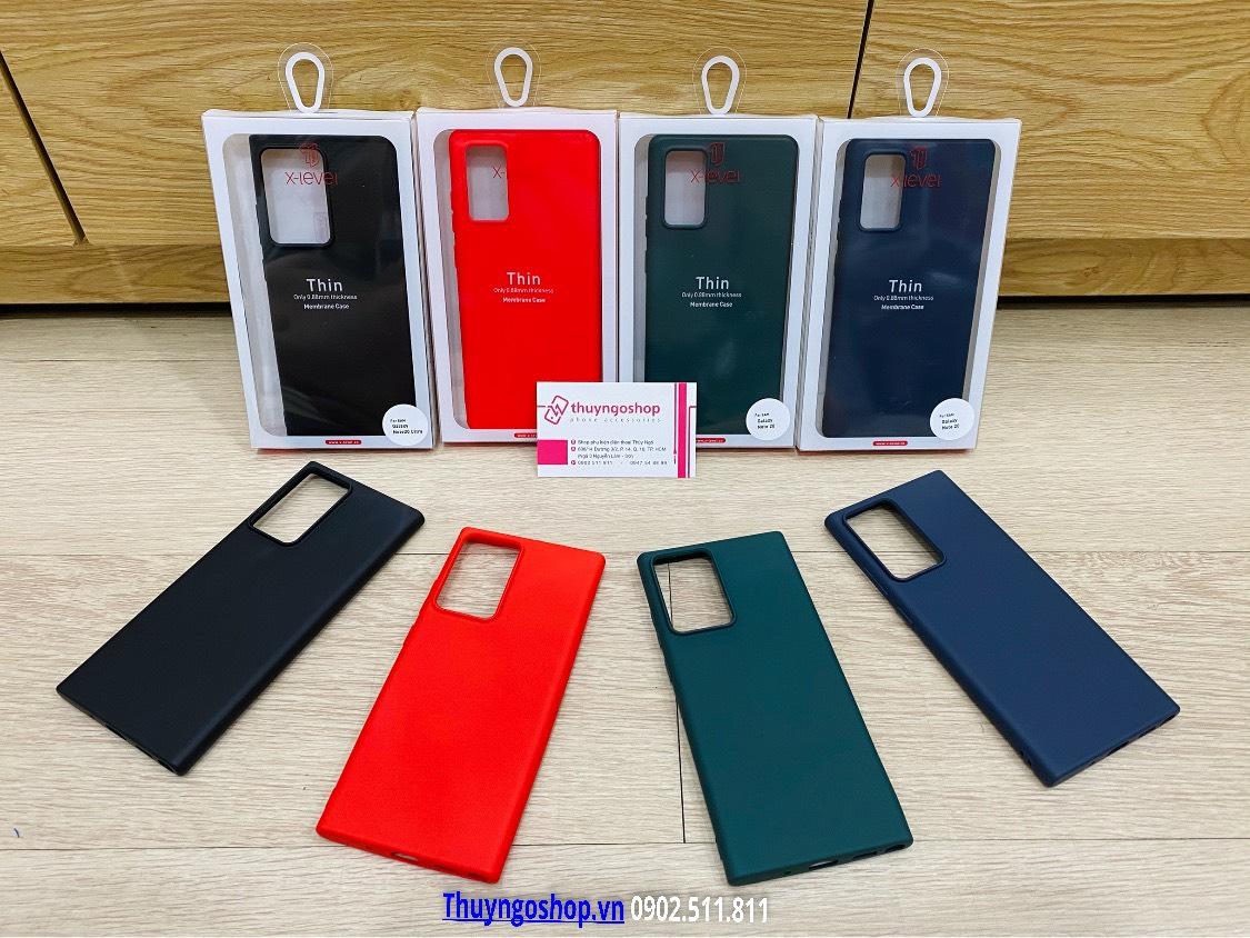 Ốp lưng Silicon mịn chính hãng X-Level Samsung Note20 / Note20 Ultra