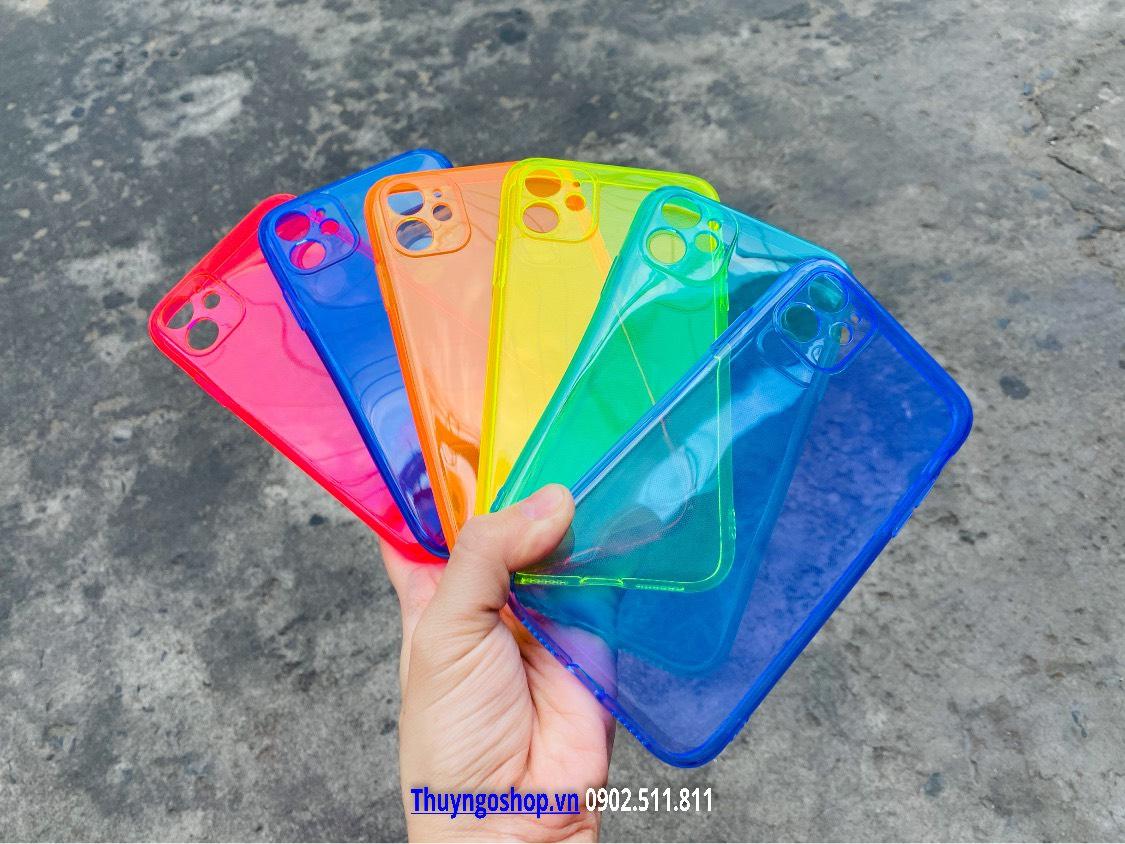 Ốp lưng silicon màu trong phản quang Iphone 11 - 11 Pro - 11 Pro Max - Xs Max - XR - X/Xs - 7plus/8plus  - 7/8