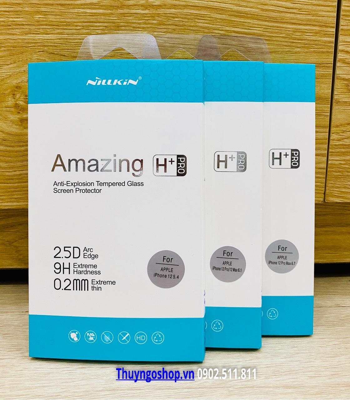 Kính cường lực 9H+ PRO hiệu Nillkin Iphone 12 / 12 pro / 12 pro max / 12 mini