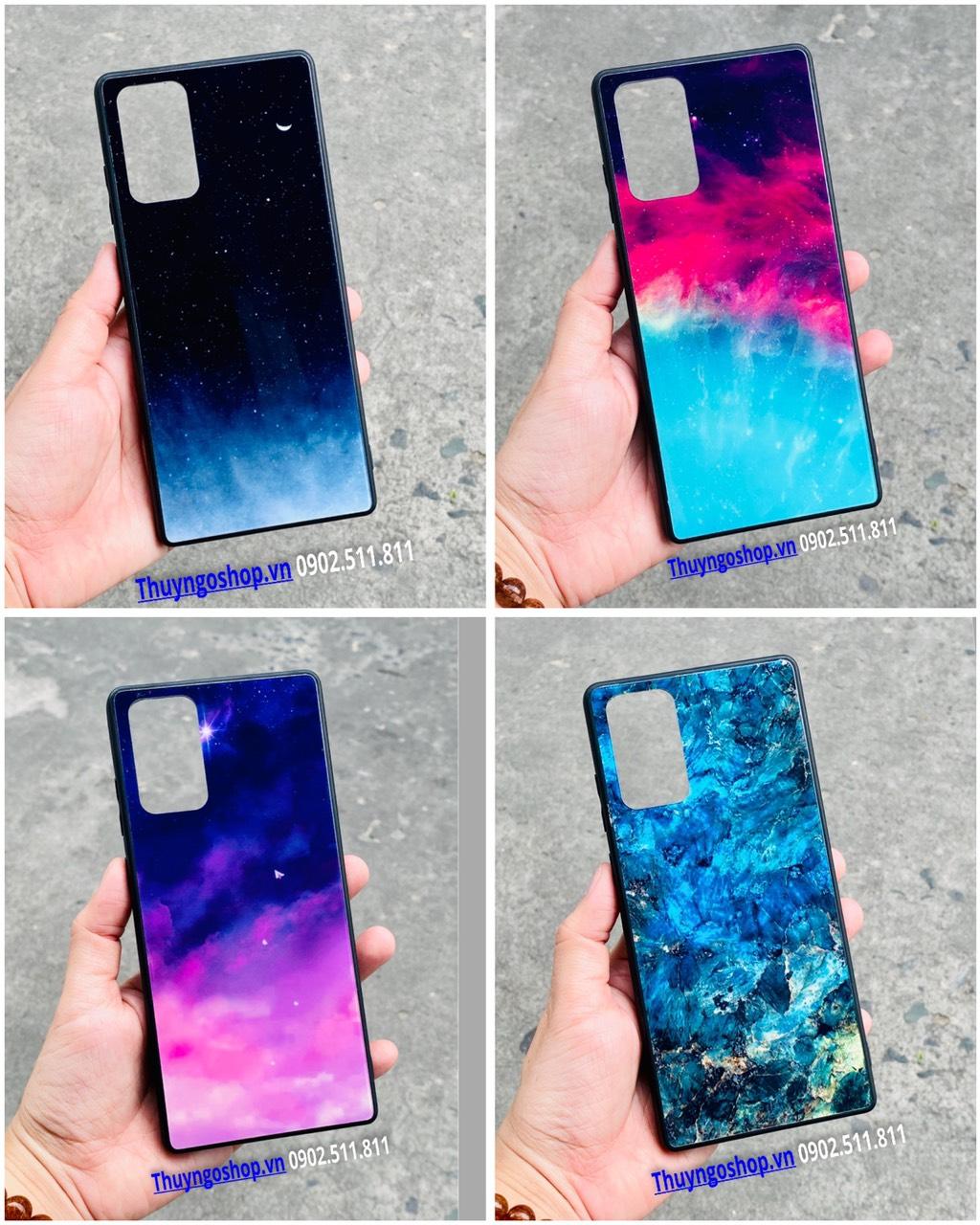 Ốp lưng kính màu loang Samsung Note20 - Note02 Plus - Note10 - Note10 Plus - S20 Ultra - S20 Plus - S10 Plus