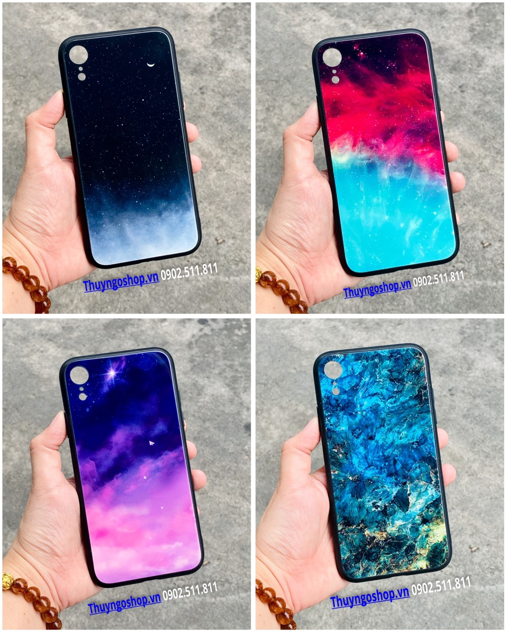 Ốp lưng kính màu loang Iphone 12 mini / 12 / 12 Pro / 11 Pro Max / 11 / 11 Pro / Xs Max / XR / X /Xs/7/8/ 7plus / 8 plus