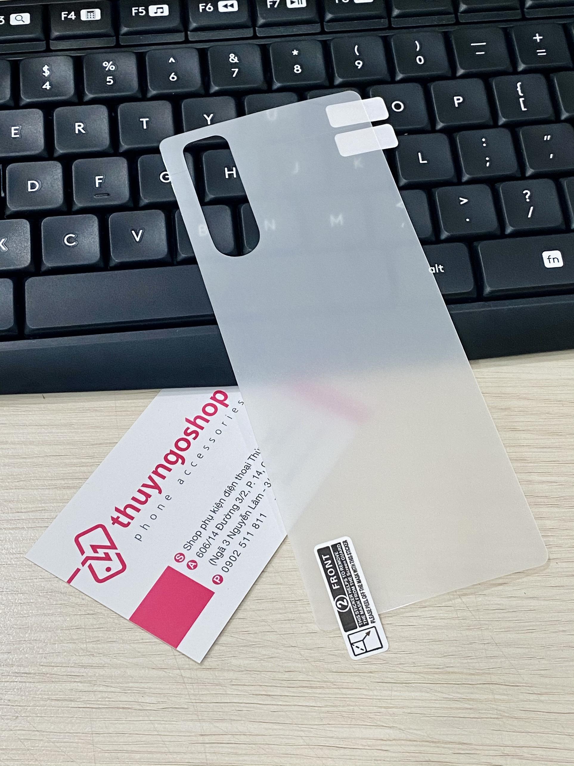 PPF dán mặt lưng trong suốt / nhám chống vân tay 100% Sony Xperia 5
