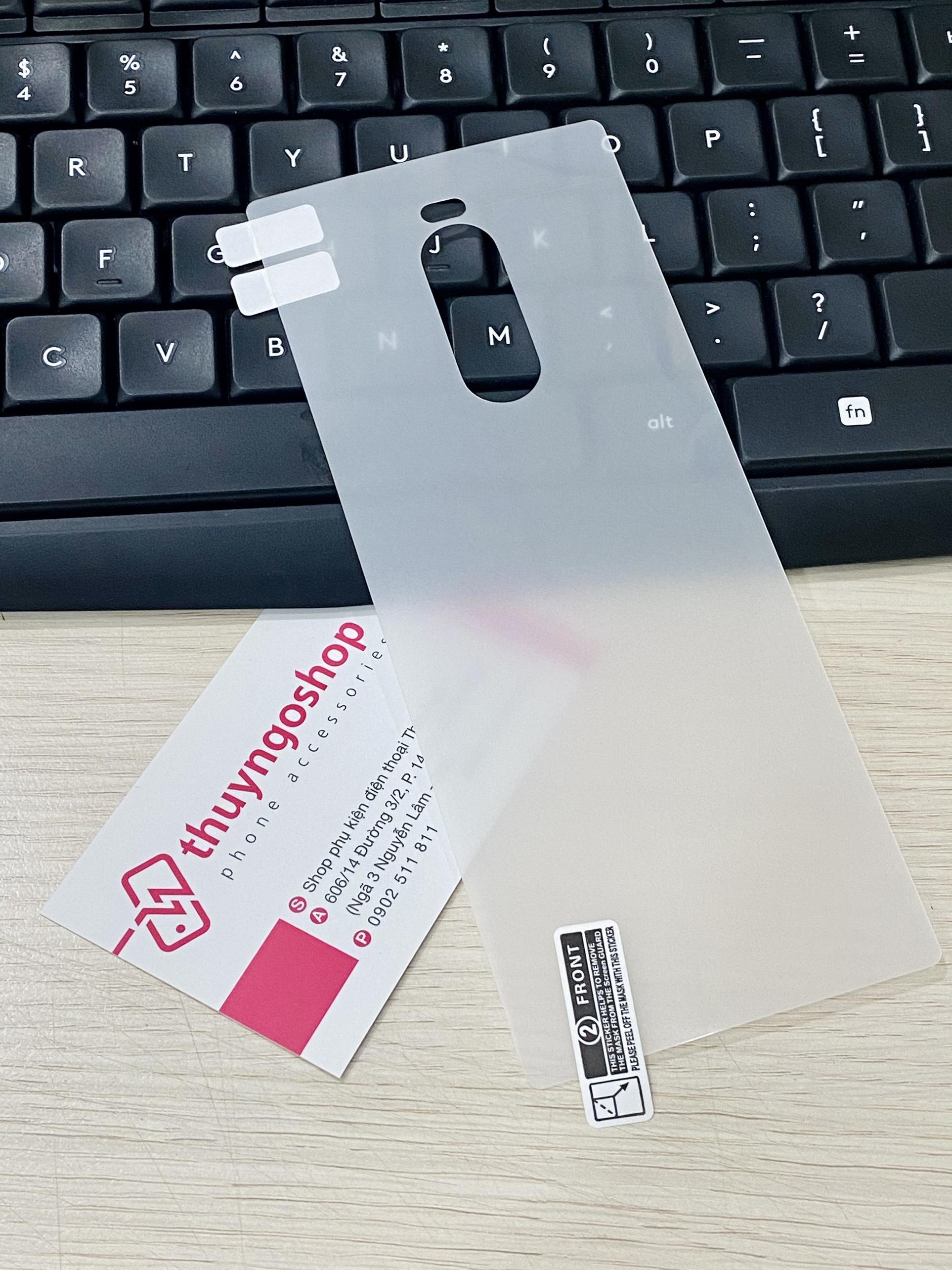PPF dán mặt lưng trong suốt / nhám chống vân tay 100% Sony Xperia 1