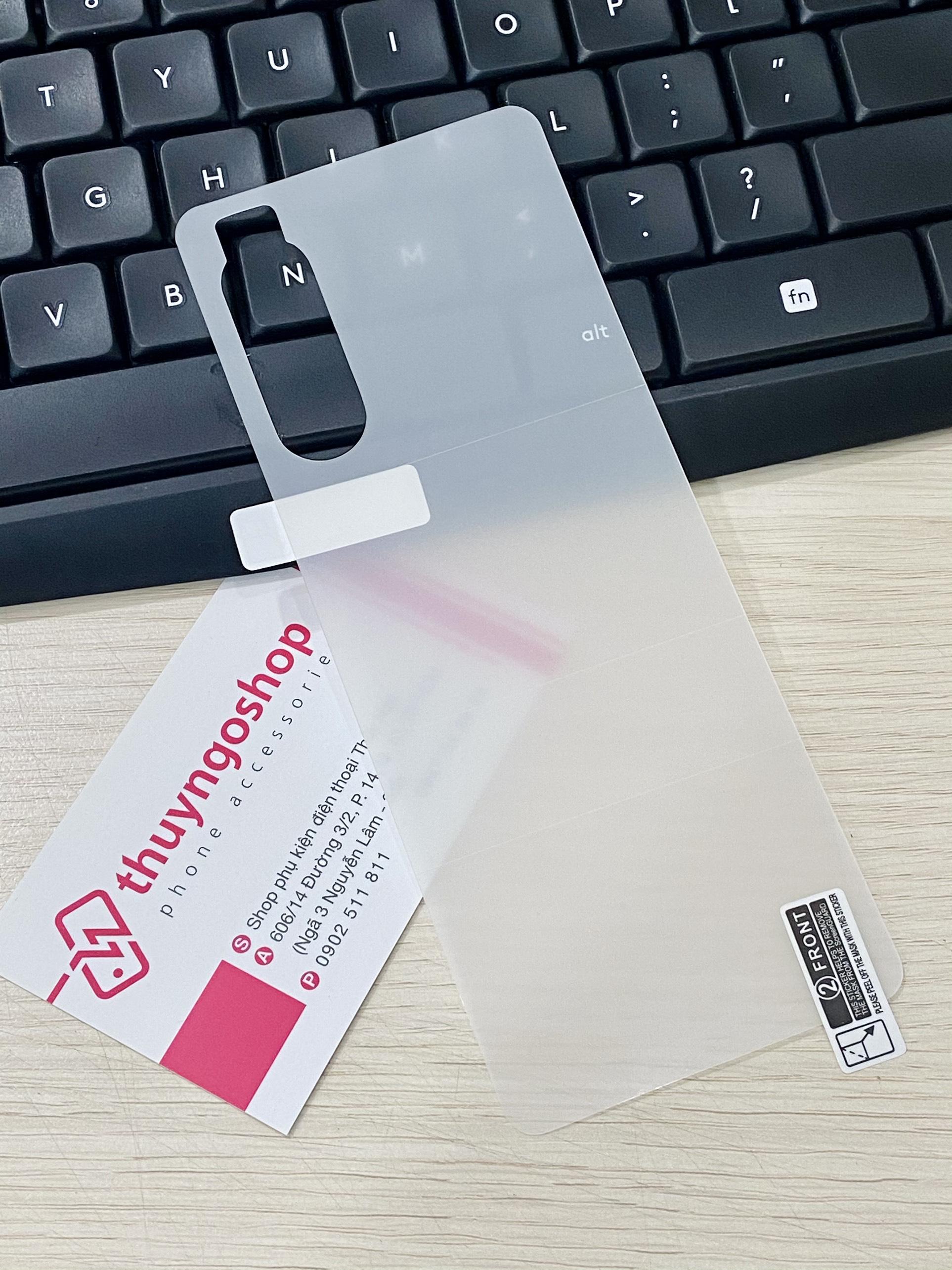 PPF dán mặt lưng trong suốt / nhám chống vân tay 100% Sony Xperia 5 Mark II